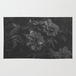Floral (Black and White) Rug