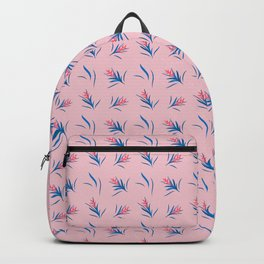 Heliconia Flower Blue&Pink Backpack