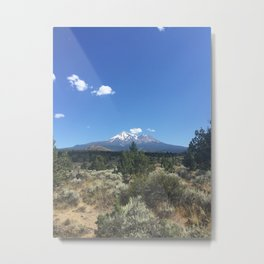 Mount Shasta from Pluto's Cave Metal Print