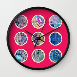 Nine Marbles Wall Clock