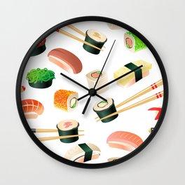 Sushi pattern Wall Clock