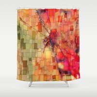 butterfly Shower Curtains featuring Butterfly   by Aloke Design