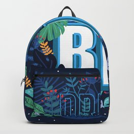 Self motivation series to dream big flower text pattern Backpack