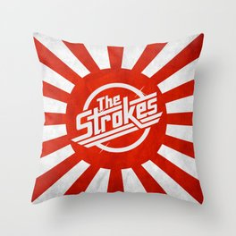 The Strokes Logo Welcome To Japan Throw Pillow