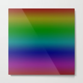Dark Rainbow Metal Print