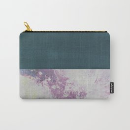 Bit of Brushstroke - Teal & Pink Carry-All Pouch