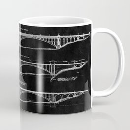 Washington Bridge Proposal Blueprint Coffee Mug