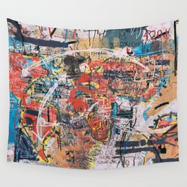 World Mapsqiuat Wall Tapestry