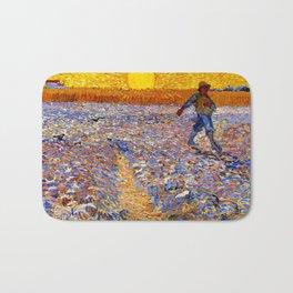 Vincent Van Gogh The Sower With Setting Sun Bath Mat