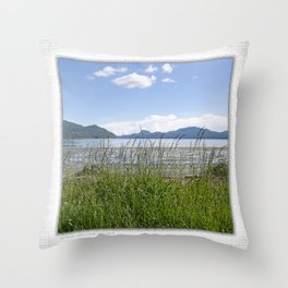 CRESCENT BEACH LOW TIDE ORCAS ISLAND Throw Pillow