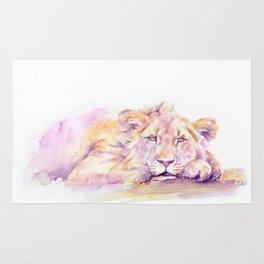 Lion _ Too hot to hunt Rug