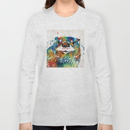 Otter Art - Ottertude - By Sharon Cummings Long Sleeve T-shirt