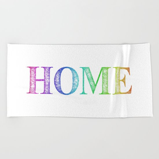 Home Beach Towel
