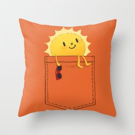 Pocketful of sunshine Throw Pillow