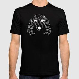raya goods : lexie the dachshund, black on white T-shirt
