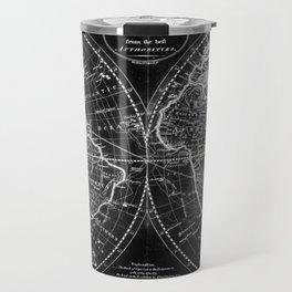 Black and White World Map (1795) Inverse Travel Mug
