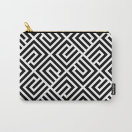 VAGUE BLACK AND WHITE Carry-All Pouch