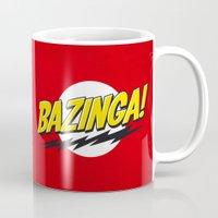 bazinga Mugs featuring Bazinga Flash by Nxolab