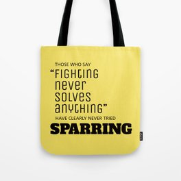 Sparring Tote Bag