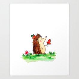 Howie the Hedgehog Art Print