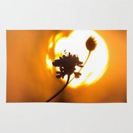 Sun hiding behind a flower 2 Rug
