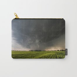 Beautiful Storm - Tornado Emerges From Rain Over Wheat Field in Kansas Carry-All Pouch
