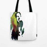 haim Tote Bags featuring Little acrylic HAIM by MGNFQ