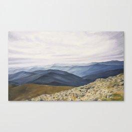 Those Tremendous Mountains Canvas Print