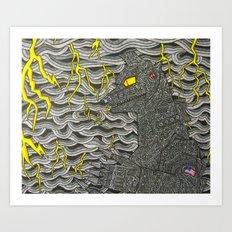 Mecha Godzilla Art Print