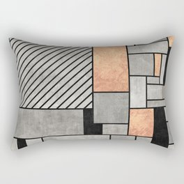 Random Pattern - Concrete and Copper Rectangular Pillow