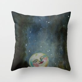 Always Kiss the Moon Goodnight  Throw Pillow