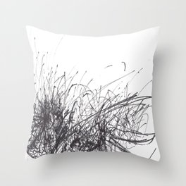 Sound of Longing (Intuitive Sound Scribble #3) Throw Pillow