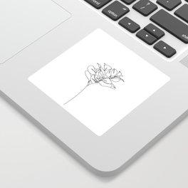 Plant one line drawing illustration - Marah Sticker