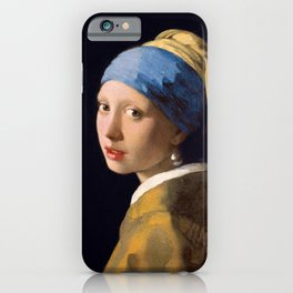 """Johannes Vermeer """"Girl with a Pearl Earring"""" iPhone Case"""