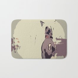 Chinese crested 8 Bath Mat