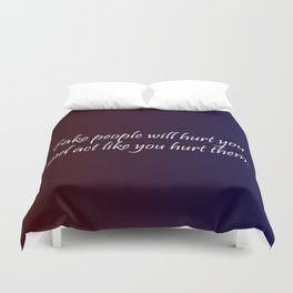 Fake People Duvet Cover