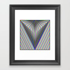 V is for Vector Framed Art Print
