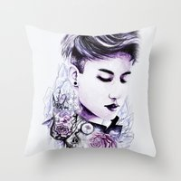 little prince Throw Pillows featuring Little Prince by Kamiira Maria