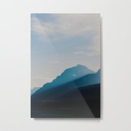The Mountains int he Fog (Color) Metal Print