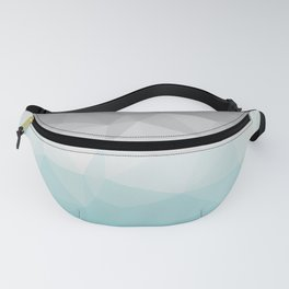 light blue and grey polygon Fanny Pack
