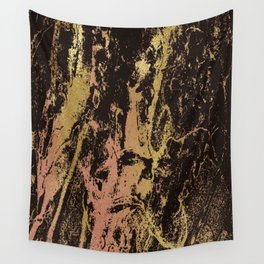 Rose gold & gold marbled Wall Tapestry