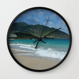 Clouds, Mountains and Ocean Wall Clock