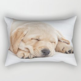 Young Labrador sleeping Rectangular Pillow