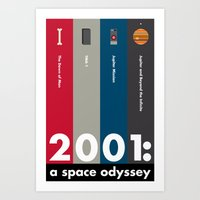 2001 a space odyssey Art Prints featuring 2001: A Space Odyssey by Jenny Norwood