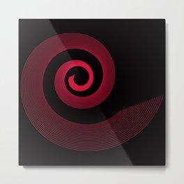 Red black spirale 5 Metal Print