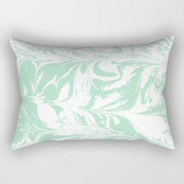 Asa - spilled ink mint marble japanese watercolor marbling marbled water wave ocean sea minimal Rectangular Pillow