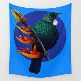 New Zealad Tui Bird Wall Tapestry