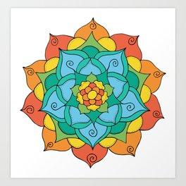 Bright Mandala Art Print