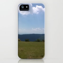 Meadow and mountains iPhone Case