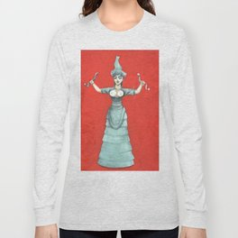 Snake Goddess Long Sleeve T-shirt